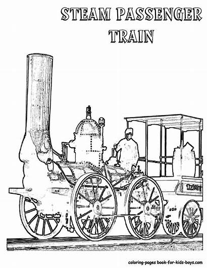 Train Coloring Steam Pages Engine Trains Sheet