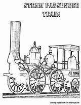 Train Coloring Pages Steam Engine Trains Sheet Yescoloring Wheels Sheets Steel Locomotive Engines Boys Passenger Fashioned Coloringpages sketch template
