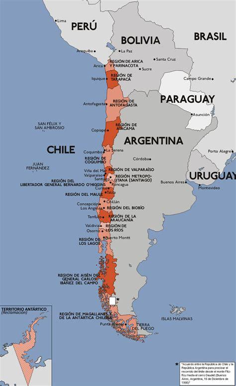 Mapa Administrativo de Chile | Mapas Políticos | Atlas del ...