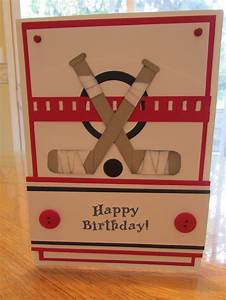 Hockey Birthday Card My Punch Art Pinterest Hockey
