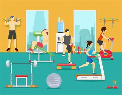 Fitness Gym Vector Sport Training Workout Center