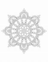 Crochet Interweave Mandala Coloring Colors Mandalas sketch template