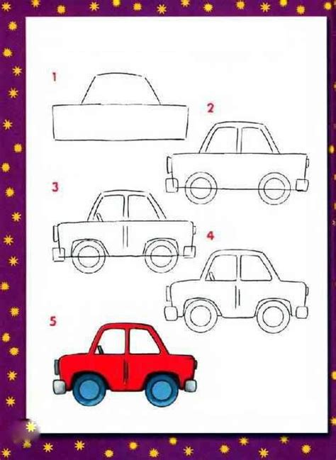 How To Draw A Boat Car by How To Draw A Car Preschool