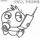 Coloring Phone Cell Telephone Printable Clipart Phones Colorings Template Mobile Delighted Popular Library Getdrawings Clip Getcolorings Coloringhome sketch template
