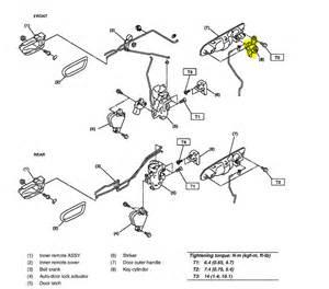 2006 Subaru Outback Driver Door Latch Repair Diagram
