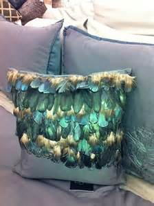 miller feathers comforter set cal king blue peacock feather pillows nip ebay