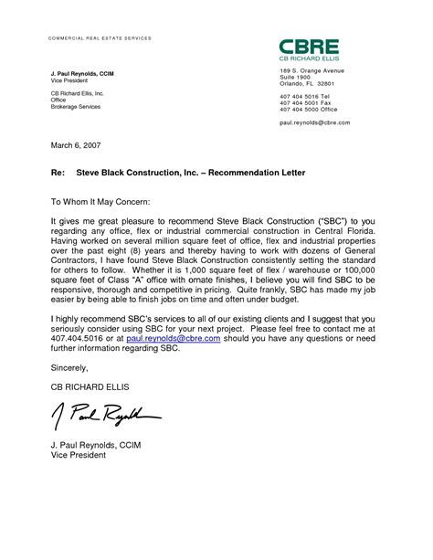 work recommendation letter sle letters free sle