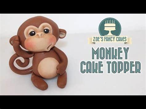 monkey cake topper  gum paste  polymer clay