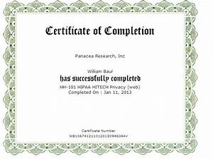 doc sample training certificate hipaa sample hipaa With hipaa training certificate template