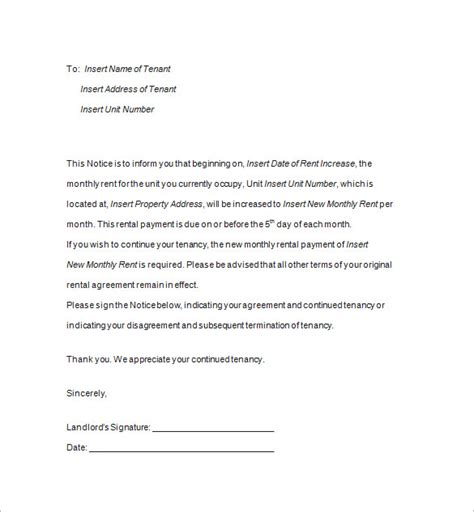 End Of Tenancy Letter Template From Landlord by End Of Tenancy Letter From Landlord Uk Arizona Lease