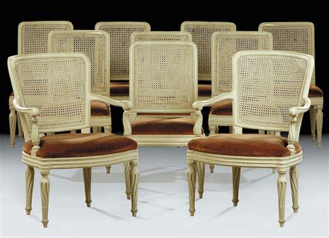 poltrone stile luigi xvi otto sedie e due poltrone laccate in stile luigi xvi