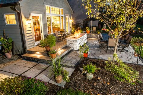 Outdoor Patio Landscaping by Outdoor Landscape Lighting For Patios Walkways And