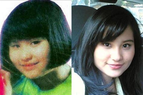 perbedaan wajah artis cilik  kecil  dewasa