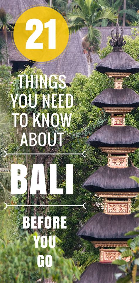 21 Things You Need To Know About Bali Before You Visit