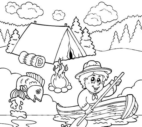 image result  fishing coloring pages punch needle patterns camping coloring pages