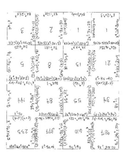 factoring polynomial puzzle by alexandra davis tpt