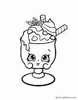 Coloring Shopkin Ice Cream Choc Charlie Mint Dream sketch template