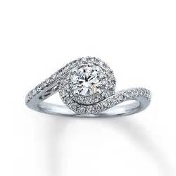 kays engagement ring jewelers style 990741302 white gold engagement ring with a band and cut
