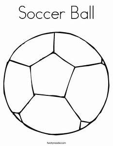 Soccer Ball Coloring Page - Twisty Noodle
