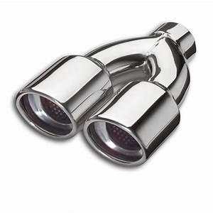Embout Echappement Double : embout echappement inox double sortie ovale 2x 83mm entree ~ Voncanada.com Idées de Décoration