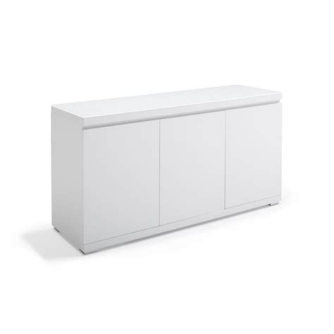 White Glass Sideboard by Kesterport Giovani 3 Door Sideboard White Lacquer With