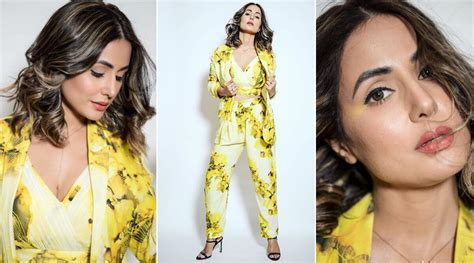 Hina Khan Soaking in her Own Sunshine in this Yellow ...