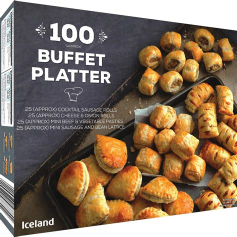 Iceland 100 Buffet Platter 1.75Kg   Christmas Party Food ...