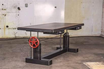 Desk Sit Stand Crank Industrial Desks Office