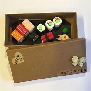 Gutschein Geschenke Verpacken : gutschein sushi fimo sushi geburtstag pinterest geschenke sushi und gutscheine ~ Watch28wear.com Haus und Dekorationen