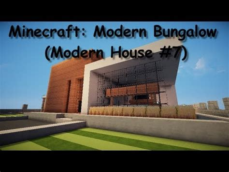 Minecraft Modern Bungalow #1 (modern House #7) Youtube
