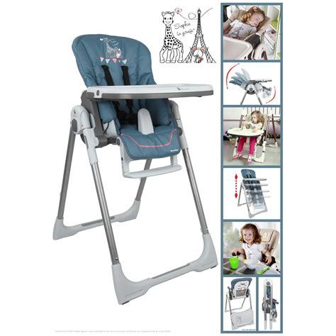 chaise haute la girafe chaise haute bébé vision la girafe de renolux