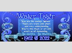 1902 1962 2022 Chinese zodiac born in year of Water Tiger
