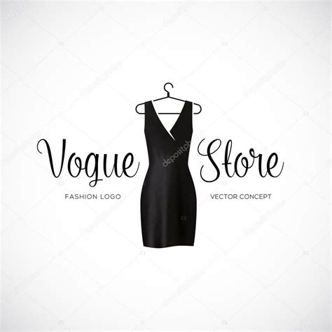 fashion vogue store logo template with black dress stock vector 169 createvil 55362863