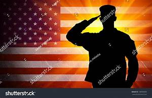 Proud Saluting Male Army Soldier On Stock Illustration ...