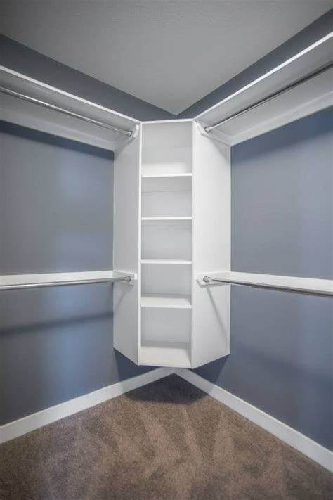 walk  closet  floating corner shelves corner