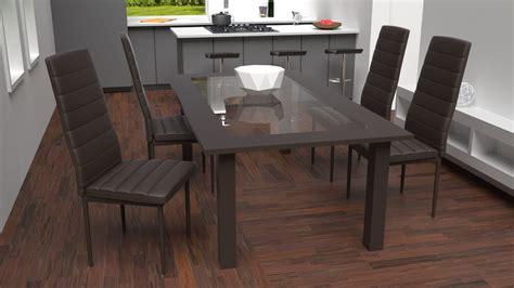 chaise cuisine design tectake chaises de salle 224 manger ou de cuisine design