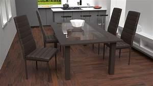 tectake chaises de salle a manger ou de cuisine design With salle À manger contemporaineavec chaise cuisine design