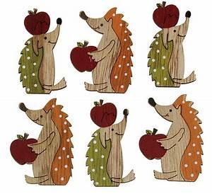 Herbstdeko Aus Holz : igel aus holz mit apfel herbstdeko zum streuen 5 cm 6 st ck eur 1 99 miroflor floristik ~ Watch28wear.com Haus und Dekorationen