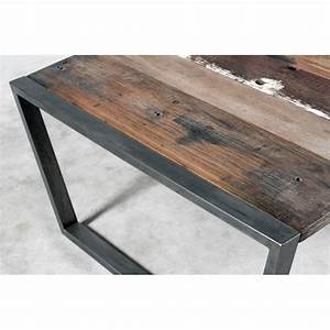 charmant table basse en fer forge 4 table basse bois et With table basse bois fer forge