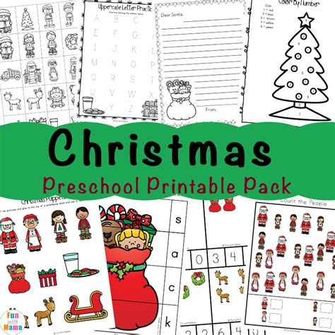 free printable worksheets with 256 | Christmas Preschool PRintable Pack a