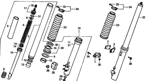 solved i need the front fork diagram for the 2002 xr 200 fixya