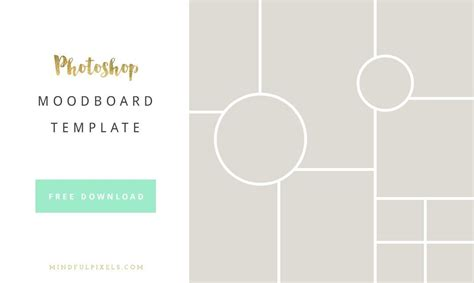 Moodboard Template How To Create A Brand Board Free Moodboard Photoshop