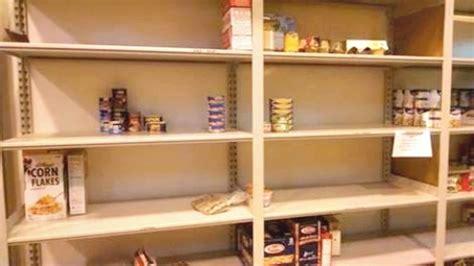 human  food pantrys shelves  empty baristanet