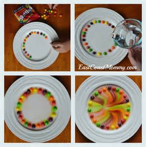 Rainbow Science Experiment with Skittles