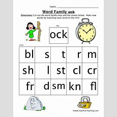 Word Family Worksheets  Page 2 Of 2  Have Fun Teaching