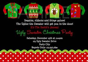 Ugly sweater party invitations theruntimecom for Ugly sweater christmas party invitations template