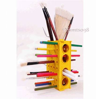 Pencils Holder Brushes Panting Organizer Rack Desk
