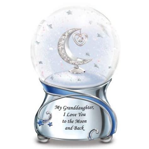 granddaughter  love    moon musical snowglobe