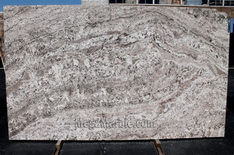 white torroncino granite slab polished contemporary