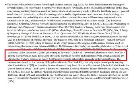 abortion illegal deaths naral died many wade roe footnotes saynsumthn